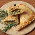 Turnovers with ricotta and chard filling