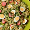 Quinoa salad with pickled radishes