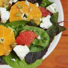 Spinach, citrus and feta salad