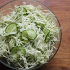 Vinegar slaw with cucumber and dill