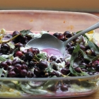 Roasted grapes with camembert and herbs