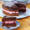 Chocolate & raspberry birthday cake