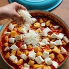 Oven baked gnocchi in tomato sauce