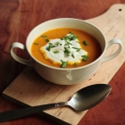 African pumpkin soup with curry and ginger