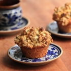Carrot, apple and walnut muffins