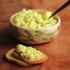 Egg salad with curry and Dijon mustard