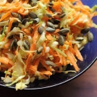 Horseradish coleslaw with pumpkin seeds