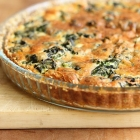 Spinach quiche with buckwheat crust
