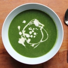 Nettle lovage spring soup