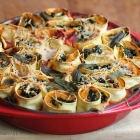 Rotolo di pasta with squash and spinach