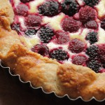 berry ricotta galette