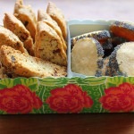 Cranberry walnut biscotti and Parmesan biscuits