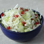 Fennel and celery slaw with pomegranates