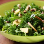 Kale salad with orange dressing