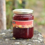 Sour cherry and redcurrnt jam
