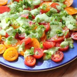 topmato salad with feta dressing