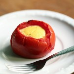 baked tomato with ricotta custard